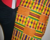 Kente #1 African Sash, Scarf, school sash, graduation sash, Black History Month Stole, Kente sashes for Church Choirs