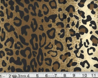Leopard print African Animal skin prints Fabric Sold by the Yard 100% cotton for Clothing/Craftings/home decor/ pillow covers