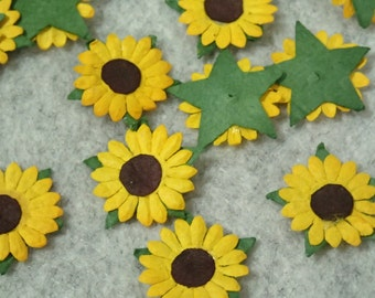 Paper Sunflower - 50pcs