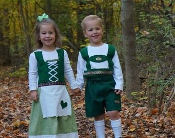 Hansel and Gretel costume set (Twin Halloween costume, Oktoberfest)
