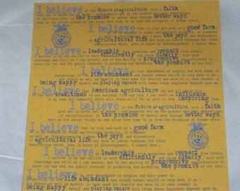 FFA 12x12 Creed paper