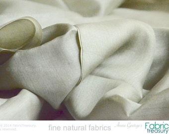 "Peace Silk fabric. Ahimsa Silk. Slow Fashion fabric. Handwoven. Natural, organic, fairtrade fabric. 42"" / 106 cm wide. Thyme Patch color."