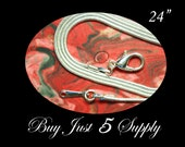 """12 ~ 24"""" Silver Plated Snake Chains with Lobster Clasps... Fused Glass, Pendant Tray Art, Bottle Caps, or Dog Tags"""