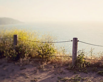 "Travel Photography - San Francisco Landscape Photography - The Bay - Fence Photography - Home Decor - Fine Art Photography - ""The Bay"""