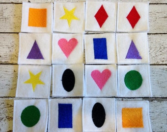 Felt & Foam Memory Game, matching Game, Handcrafted, Learning Tool, Educational, Learning center, Birthday, Holiday Gift, Teacher Gift