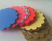 Scalloped Circles 18 - 3 inches Pick You Colors
