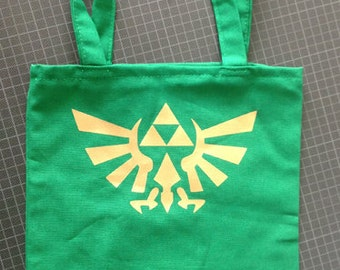 Zelda Link hyrule triforce tote bag