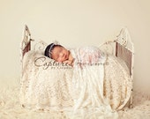 Leighton Heritage Newborn Lace Stretch Wrap Soft Swaddle Photography Prop