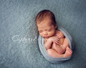 Leighton Heritage Newborn Stretch Wrap IN STOCK and Ready to Ship Boy Stretch Knit Soft Swaddle Photography Prop Blue Gray Grey Premium Pose