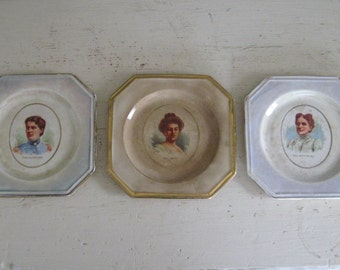 Early 1900's First Ladies Plates - Set of Three