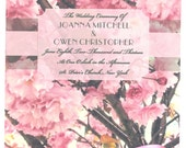 Blush Blossoms Wedding Fan Program **Front and Back Sides Fully Customized**