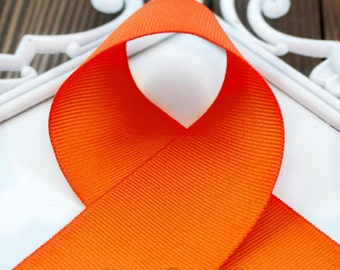 Orange 3 inch ribbon - Choose Color and Yardage - Hairbow Supplies, Etc.