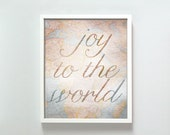 8x10 Joy to the World print