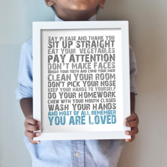 Printable 8x10 You Are Loved - blue