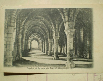 l'Abbaye des Vaux de Cernay - 1904 - Antique French Postcard