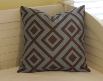 David Hicks La Fiorentina Linen Pillow Cover - Lee Jofa Groundworks Designer Pillow Cover - Square, Euro and Lumbar Sizes