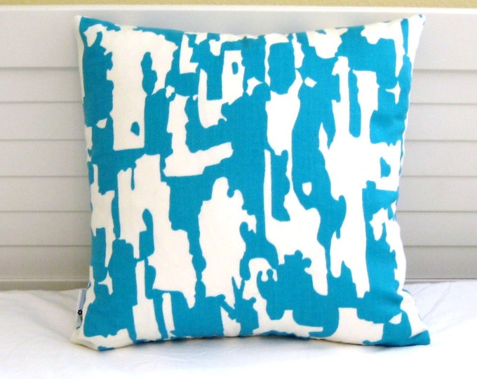 Schumacher Trina Turk Beauty Bark Print in Laguna  (on Both Sides) Designer Pillow Cover