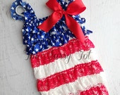 4th of July Baby Romper - 4th of July Romper - 1st 4th of July - 4th of July Outfit - Petti Romper - Ships Within 24 Hours - SALE