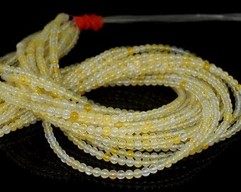 """3mm Light Honey Jade Round beads full strand 16"""" Loose Beads P142652"""