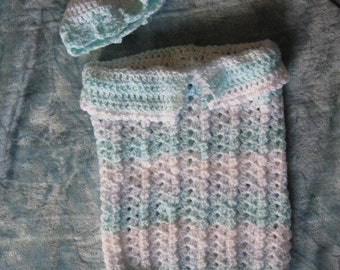 Soft  and Secure Crochet Baby Bunting