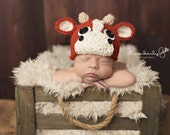 newborn bull Hat.. baby bull hat....photo prop..Photography Prop..Newborn photo prop...20% off with code VALEN1 at checkout