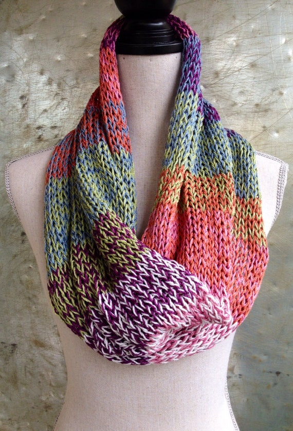 Silk Infinity Scarf - Mothers Day Gift  - One of a Kind - Cowl - Industrial Whimsy
