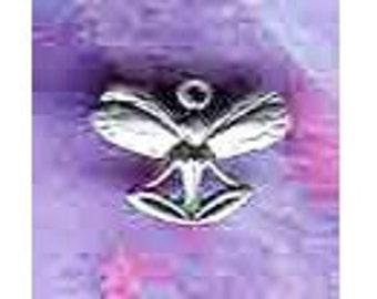 Sterling Silver Lotus Meditation Fairy Charm / Pendant