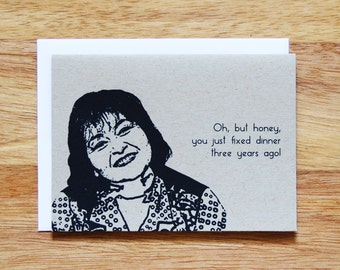 Roseanne Quote Greeting Card