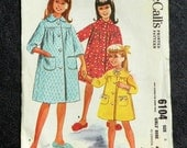 Vintage Pattern 1961 McCall's 6104 Girls Robe size 6