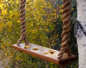 Wooden Rope Tree Swing - Garden Swing -25ft. - Made in USA