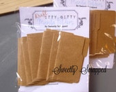 Mini Manila Folders, Kraft Brown, Small, Scrapbooking, Cardmaking, Doll House, Tiny, Embellishment, Mini Album