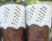 Boot Toppers - Garter Stitch Lace