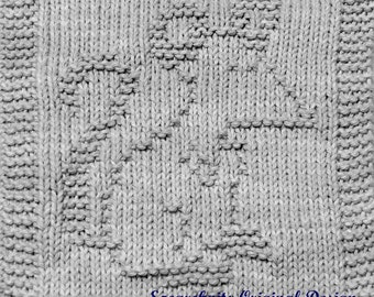 Knitting Cloth Pattern - PAPA MOUSE -  PDF