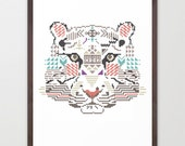 Tiger wild cross / poster A3