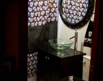 popular items for skull sugar skull on etsy. Black Bedroom Furniture Sets. Home Design Ideas