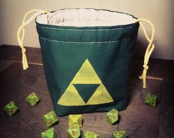 Triforce Dice Bag, Zelda Inspired