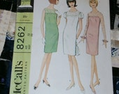 1966 Vintage McCall's Pattern 8262 Junior Dress, Size 13, Bust 33""