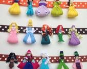Princess Ribbon Sculpture Hair Clip - Choose One