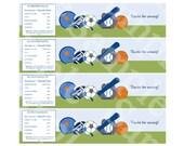 "Printable ""Little Lil Sports Player"" Water Bottle Labels Instant Digital Download"