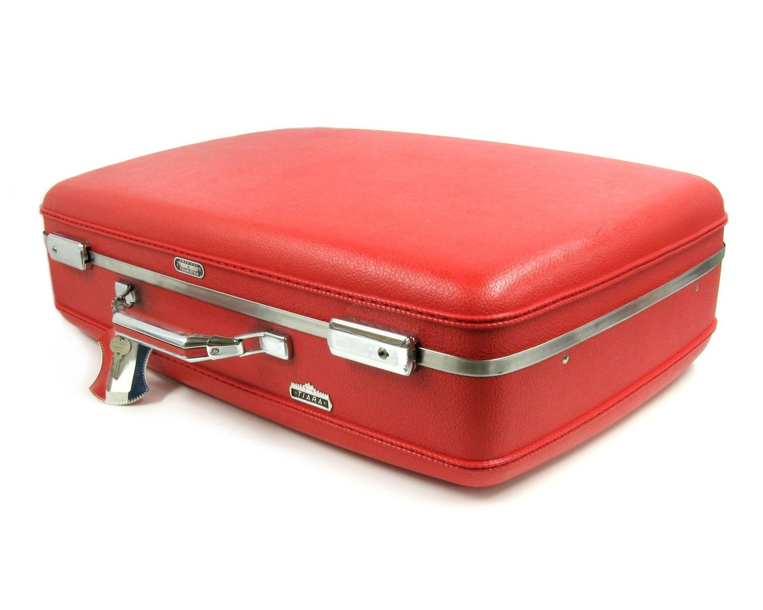 Vintage Cherry Red Samsonite Hard Plastic Suitcase / Suit Case ...