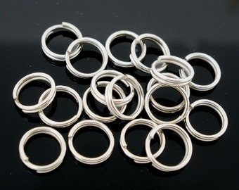 800 BULK Split Rings 6MM High Quality Silver Tone - J28