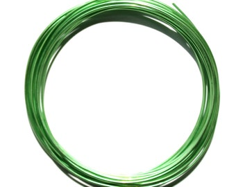 SALE Aluminum Wire 1.5mm Light Green Beading Wire 60% Off! - AW4