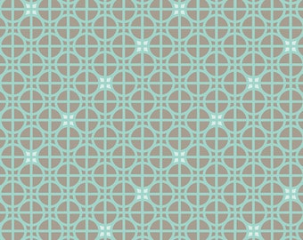 Art Gallery Angela Walters Drift Latticework in Turquoise Quilt Fabric One Yard