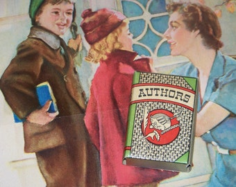 1930s A Big Little Card Game Game of Authors