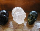 ScArY sKuLL Carved Gemstone Beads/ For your craft projects or your Gemstone Collection
