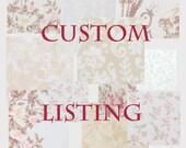 Custom listing just for Jenn