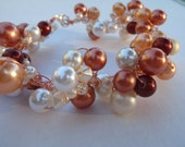 Mag Bracelet with Pearls Beads and Copper Wire