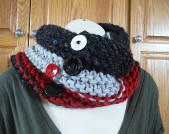 Button Black Super Thick Cowl