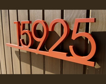 CUSTOM Minimalist Underline House Number Sign in Powder Coated Aluminum