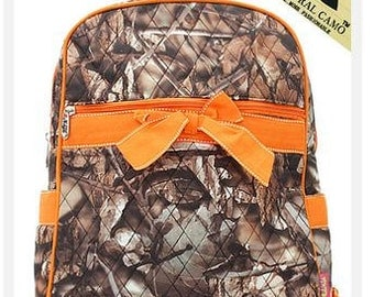 """Personalized 14"""" Girls Quilted Backpack-CAMO BACKPACK  BNB Camo"""